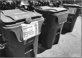Rightsizing of trash bins put on hold