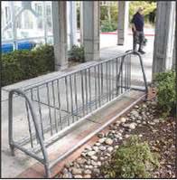 Where are Rossmoor's bike racks?Three locations have them