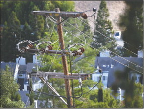 Power pole coming down 'soon'