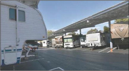 Off the streets: RVs are back in their parking lot
