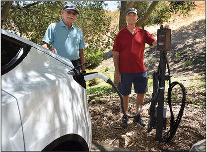 Electric car promotes sustainability